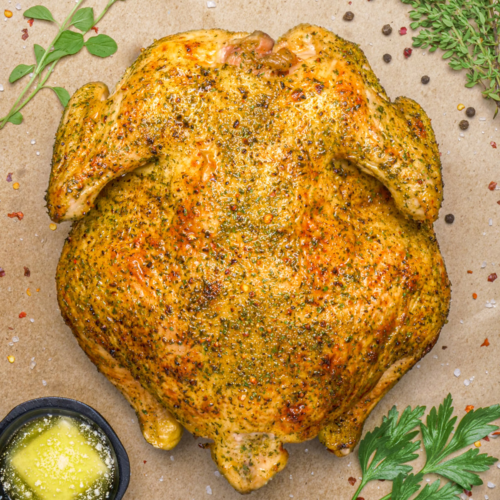 Buttery Garlic & Herb Whole Roasted Chicken
