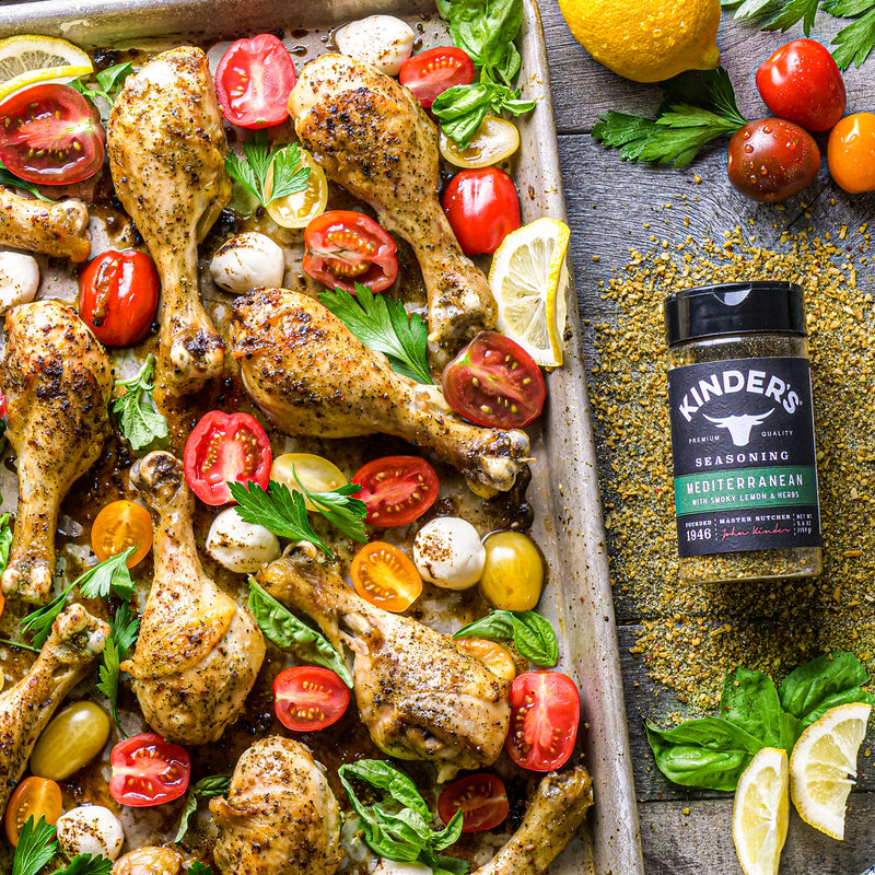 Mediterranean Seasoned Chicken Drumsticks Caprese