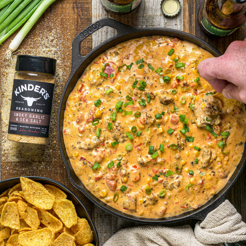 Smoky Garlic Cheesy Sausage Dip