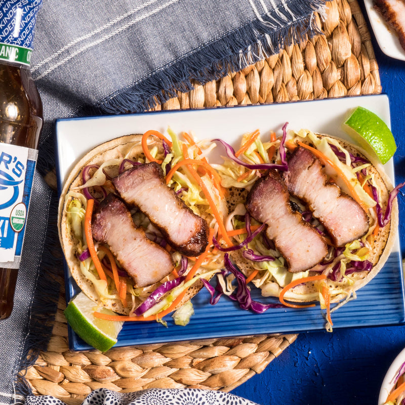 Teriyaki Pork Belly Tacos