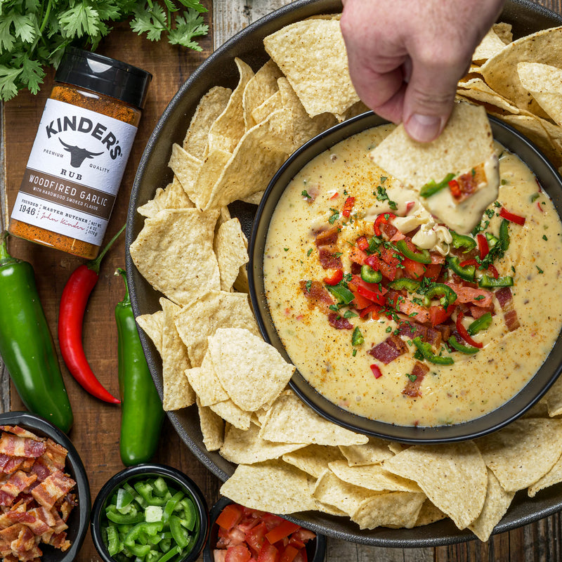 Woodfired Garlic White Queso Dip