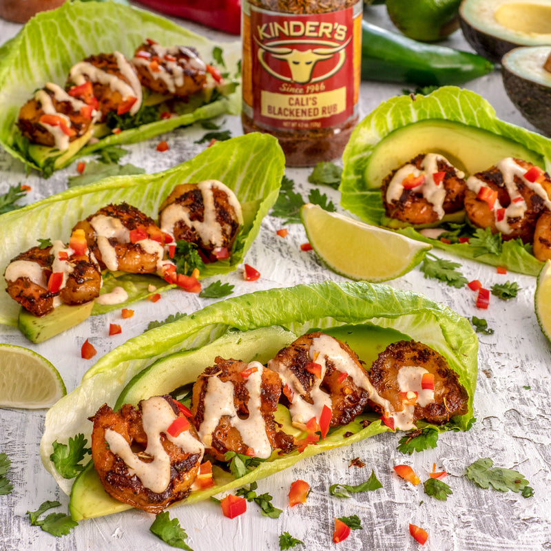 Blackened Shrimp Taco Lettuce Wraps