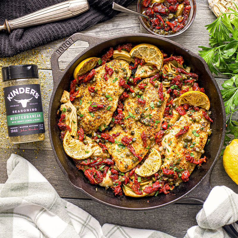 Mediterranean Seasoned Chicken with Sun-Dried Tomatoes & Artichokes