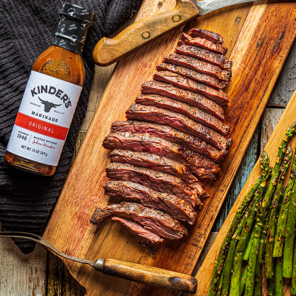 Garlic Marinated Grilled Flank Steak