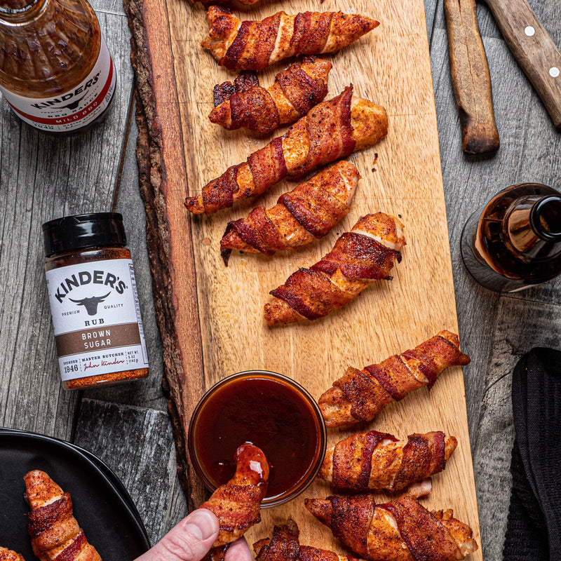 Brown Sugar Bacon Wrapped Chicken Tenders
