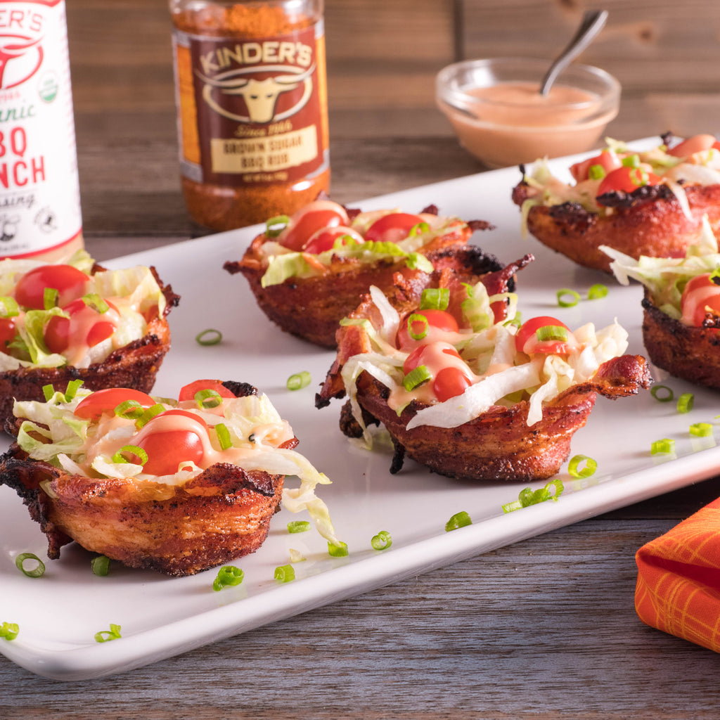 Brown Sugar Bacon BLT Cups