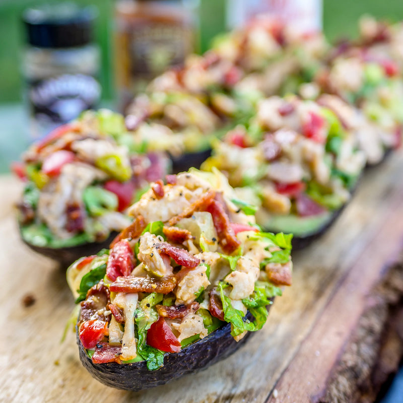 Pulled Chicken BLT Avocados