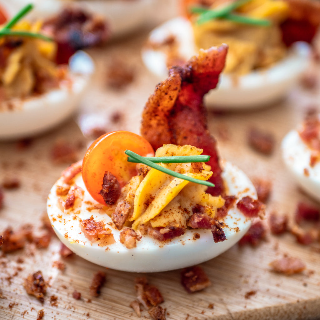 Easter Egg Appetizer With Brown Sugar Bacon