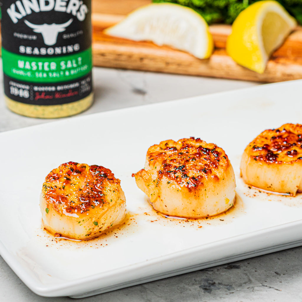Seared Scallops with Master Salt