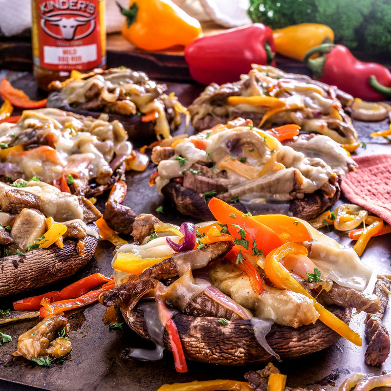 Cheese Steak Stuffed Portobellos