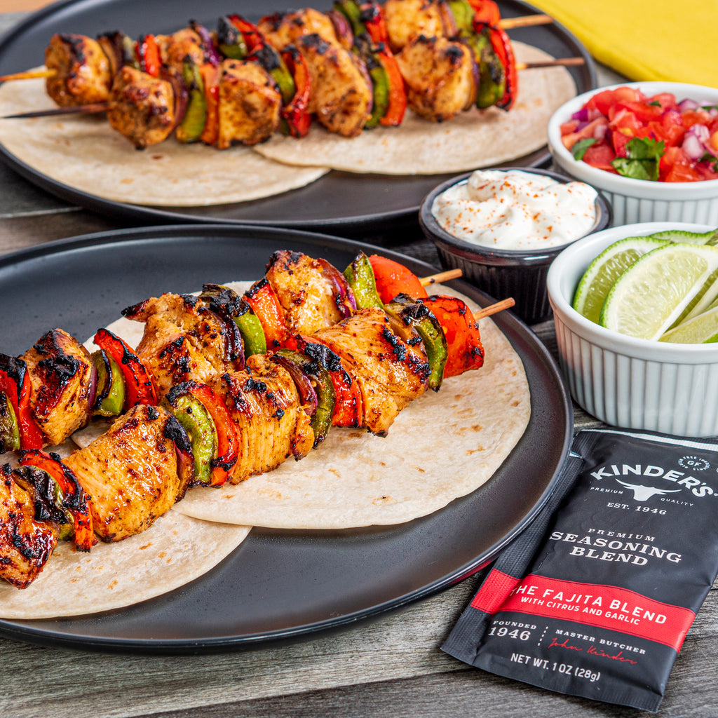 Kinder's Chicken Fajita Skewers