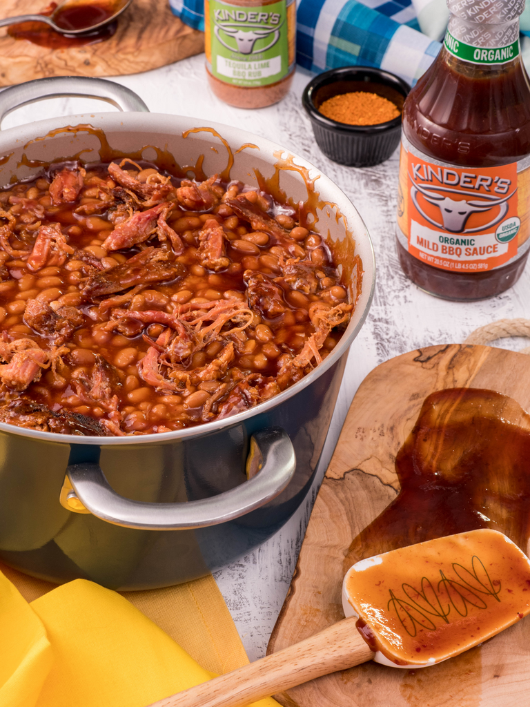 Tequila Lime Pulled Pork Baked Beans