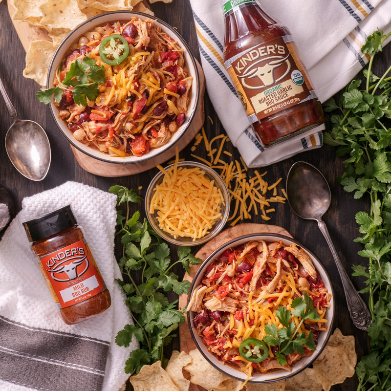 Roasted Garlic BBQ Chicken Chili