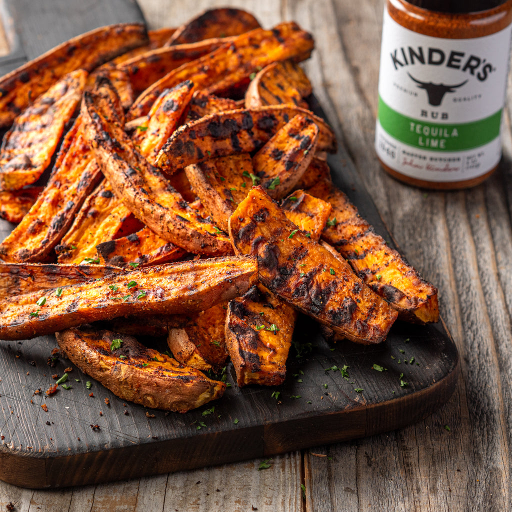 Grilled Tequila Lime Sweet Potato Wedges