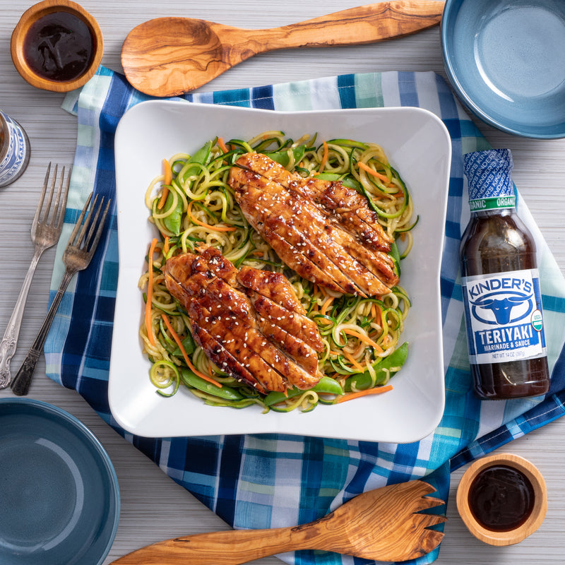 Teriyaki Chicken Zucchini Noodles