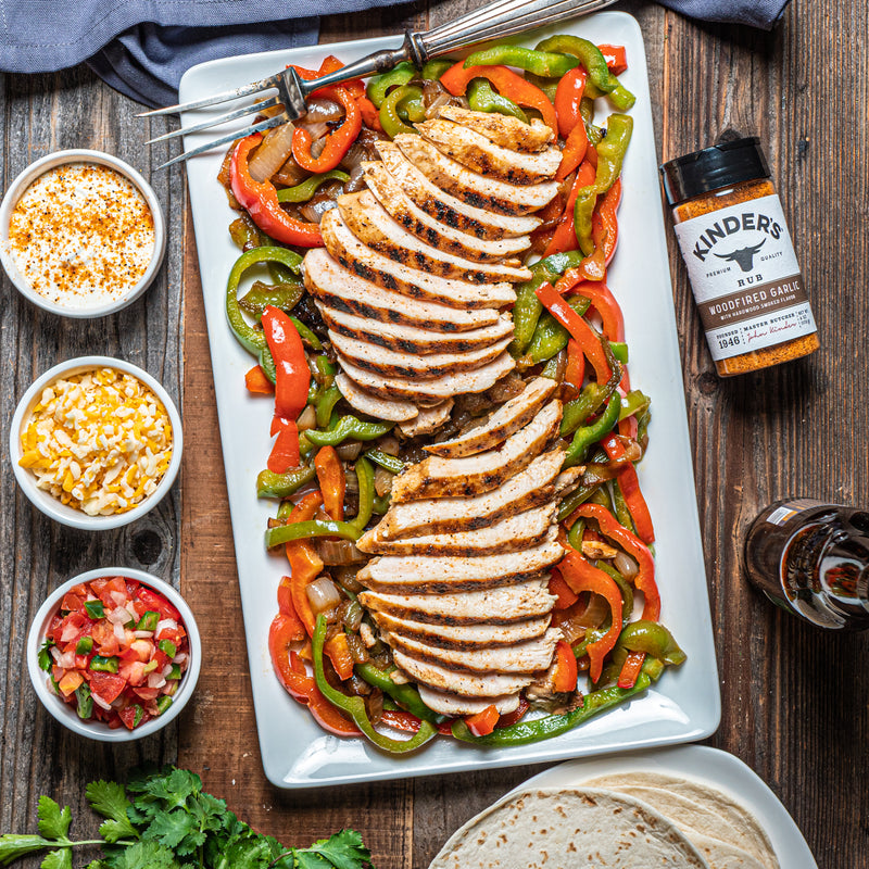 Woodfired Garlic Chicken Fajitas