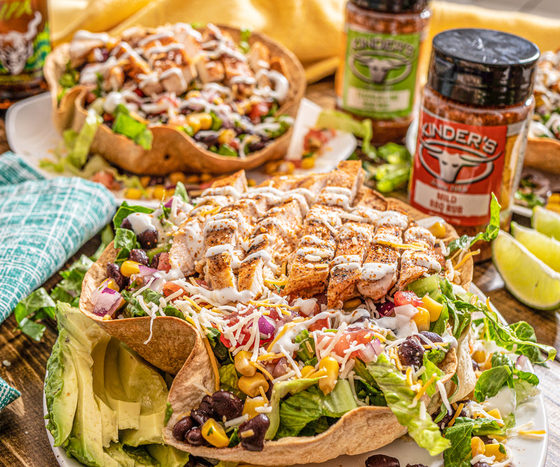 Taco Chicken Tostada Salad