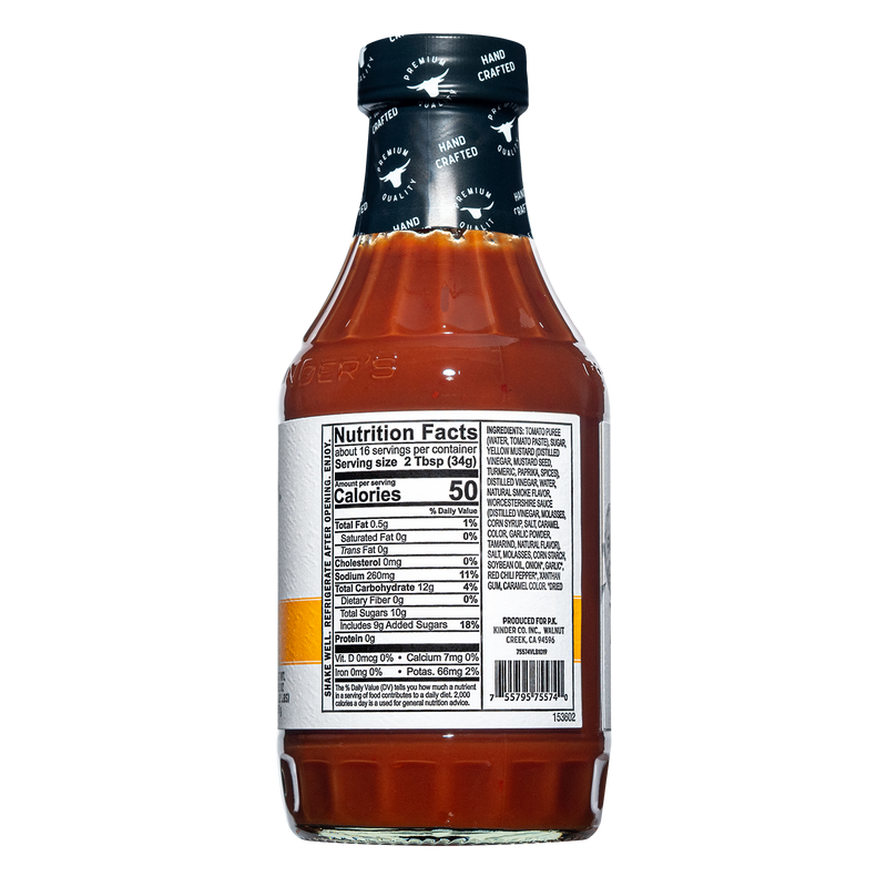Handcrafted California Gold BBQ Sauce 19.5 oz.
