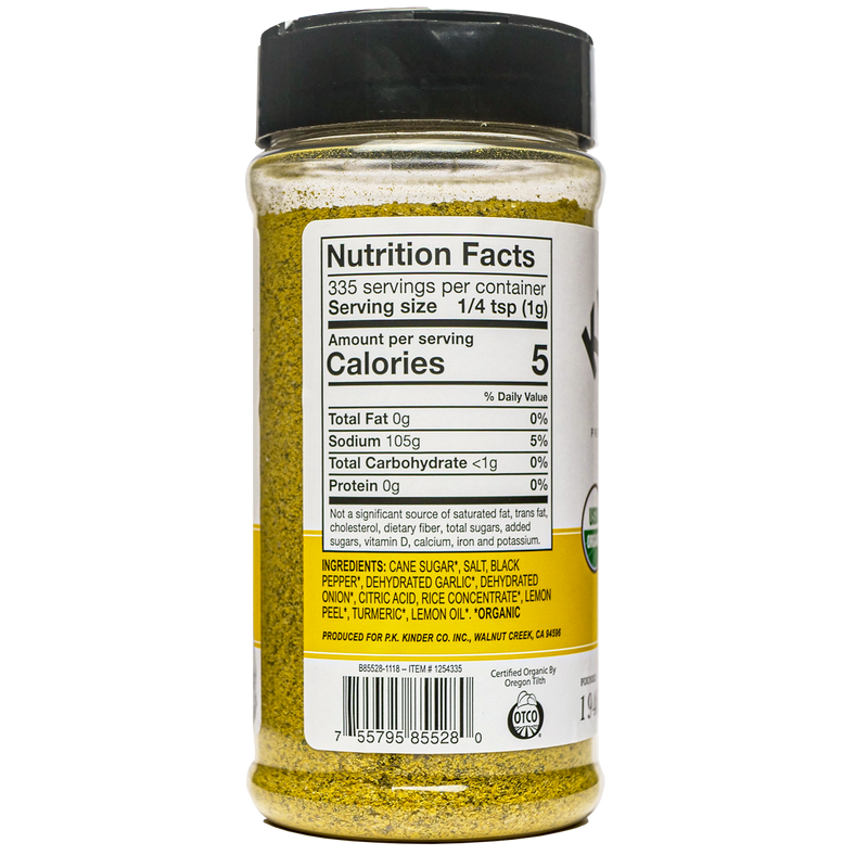 Organic Cracked Pepper & Lemon 11.8 oz.