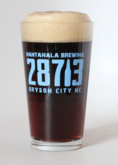 Pint Glass with 28713 Zipcode