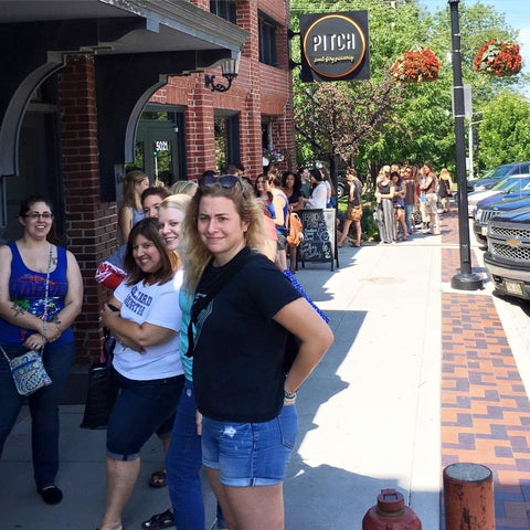 line to get in to scout event (pre-covid)