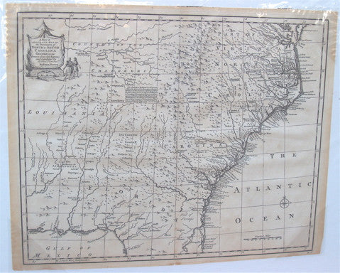 A New & ACCURATE MAP of NORTH & SOUTH CAROLINA