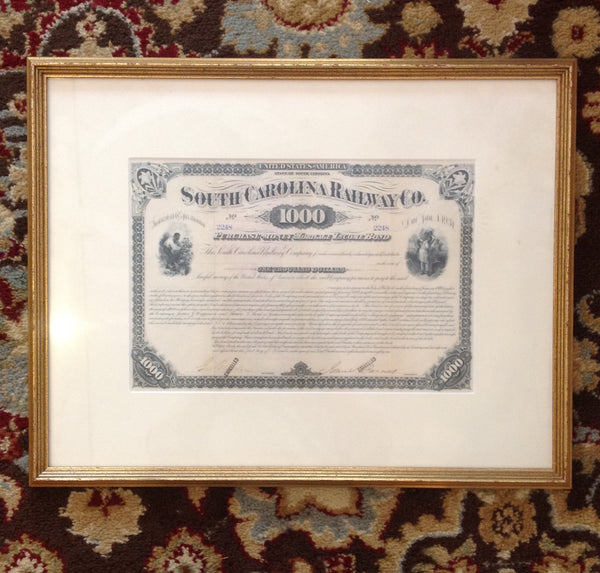South Carolina Railway Co. Bond