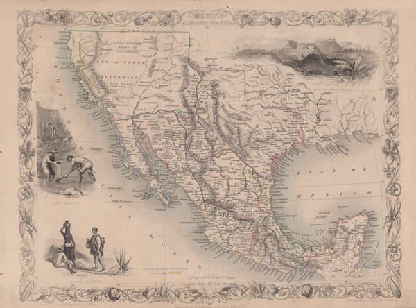 Mexico, California and Texas