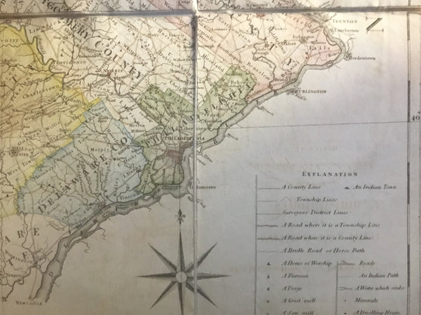 A Map of the State of Pennsylvania by Reading Howell,