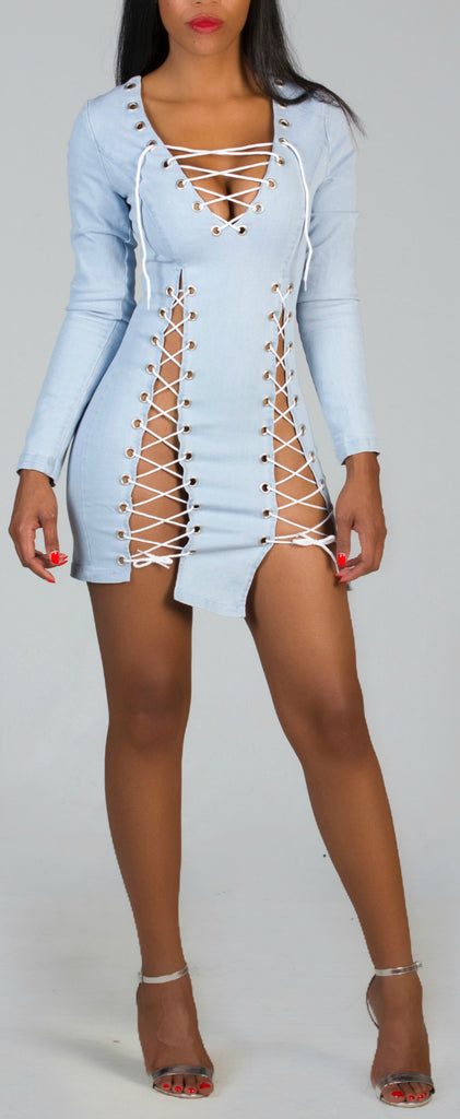 SULTRY Denim Mini Dress