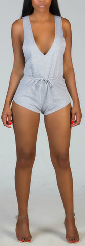 COMPELLING Gray Romper