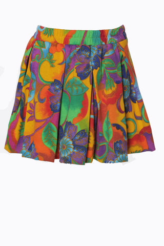 (SAMPLE) Colorful Rosery Vine Pleaded iAMMI Skirt S/M