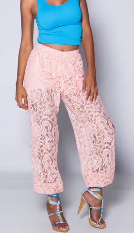 (Sample)Pink Lace iAMMI joggers XS/S