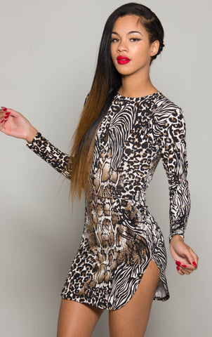 Snakeskin iAMMI Mini split Dress (C) XS/S