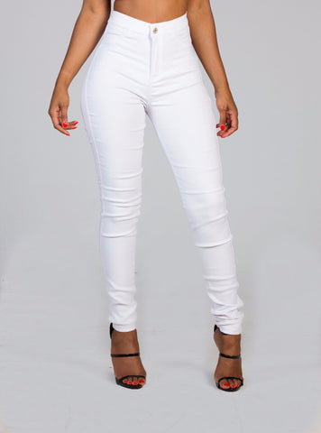 WISE White High Waist Jeans