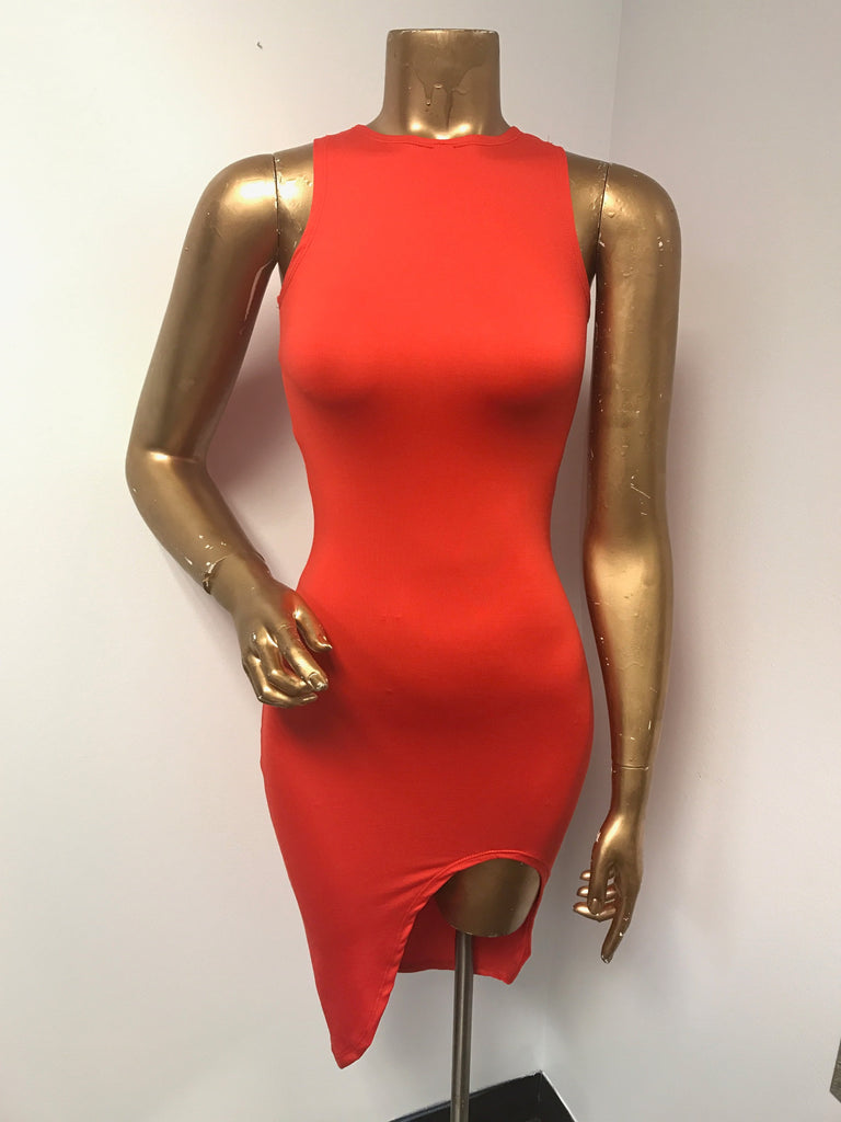 Red iAMMI Asymmetrial Dress XSMALL/SMALL/MEDIUM
