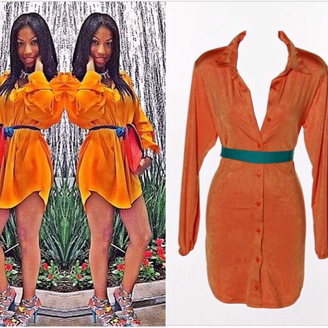 (SAMPLE) Orange longsleeve iAMMI Blouse/Dress XS/S/M