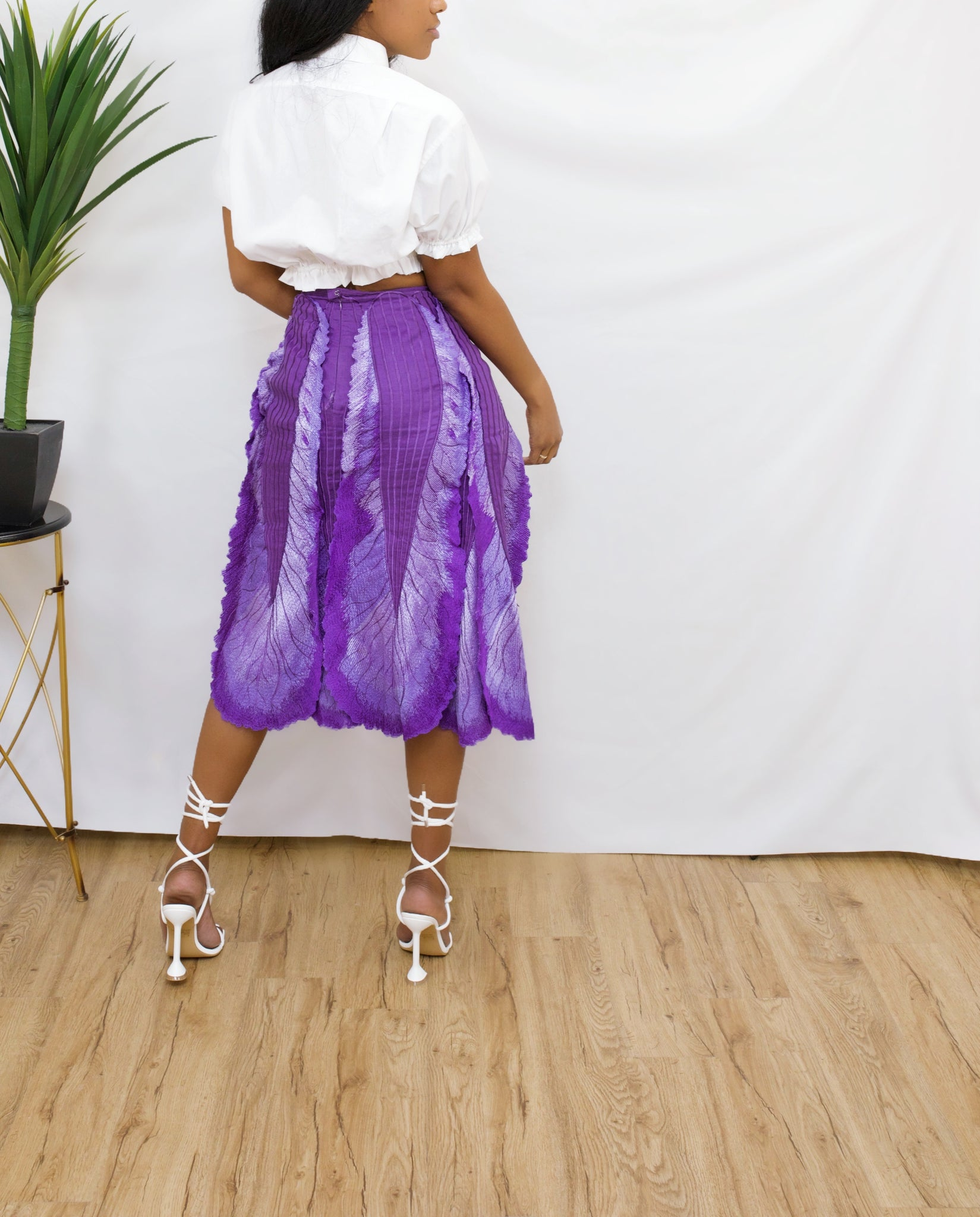 Purple Swan Split Leg Skirt (10)