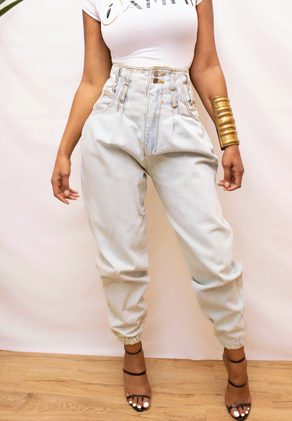 Vintage rusty High waist light denim jeans