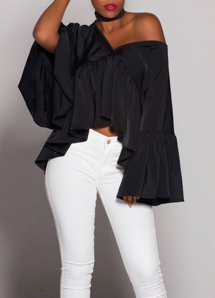 DARING Black iAMMI Flow Blouse
