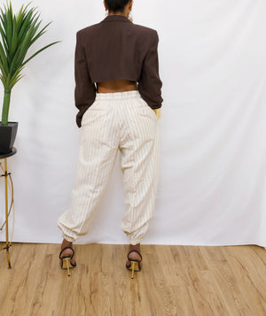 Brown vintage Crop blazer (S/M )