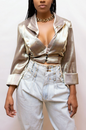 Golden Crop blazer