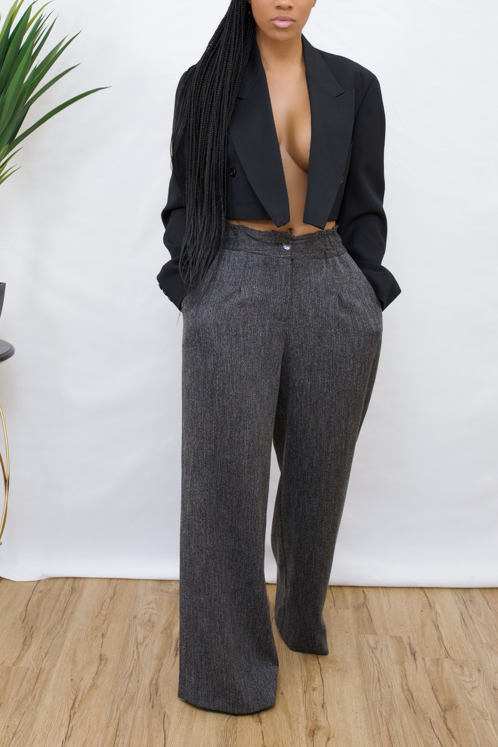 Black vintage Crop blazer