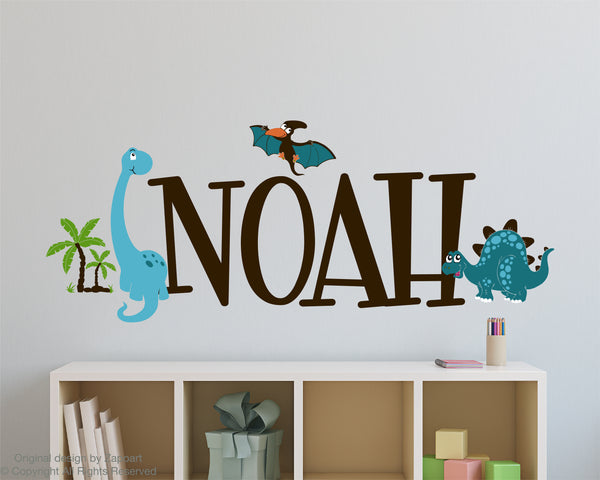 Dinosaurs Name Decal Nursery