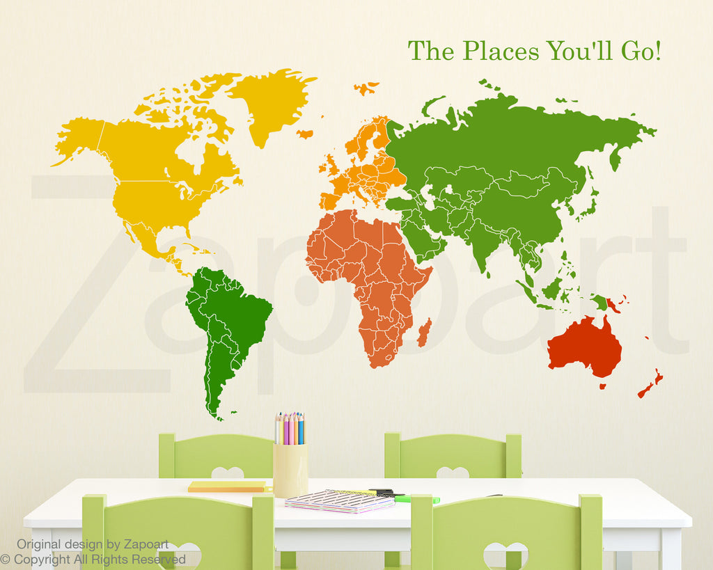 World map of continents zapoart world map of continents gumiabroncs Choice Image