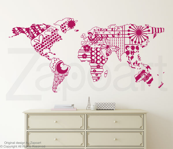 Patterned World Map