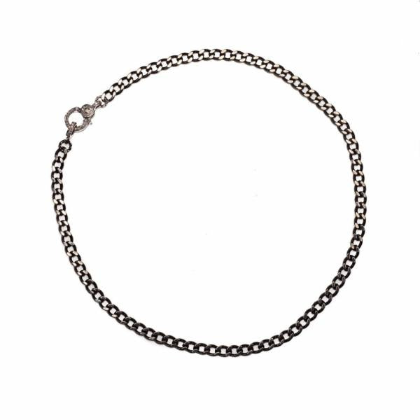 Diamond Clasp Curb Chain Choker - Shoshanna Lee