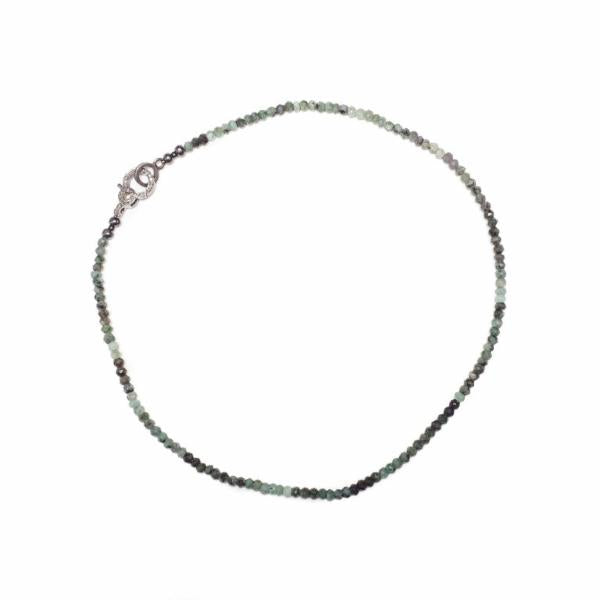 "Emerald Diamond Clasp Necklace 16"" - Shoshanna Lee"