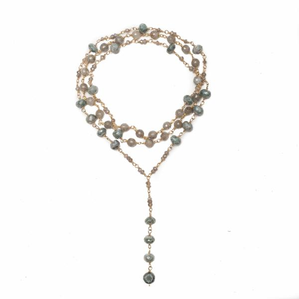 Rachelle Green Silverite Drop Necklace - Shoshanna Lee