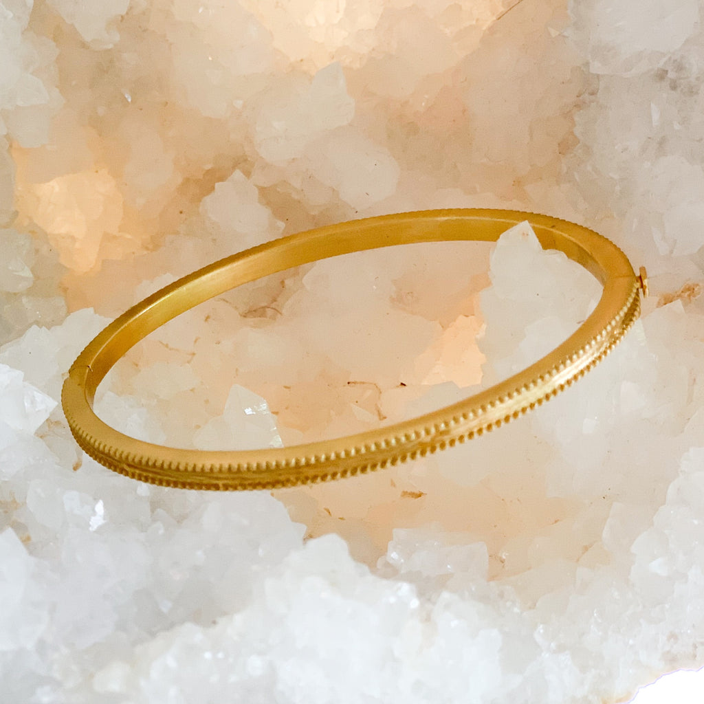 Petite Textured Bangle Gold